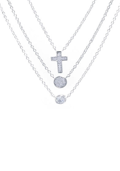 Belk Silverworks Silver Plated 3-piece Necklace Set
