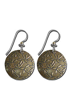 Belk Silverworks Sterling Silver French Wire Earrings With Antiqued Bronze Drops