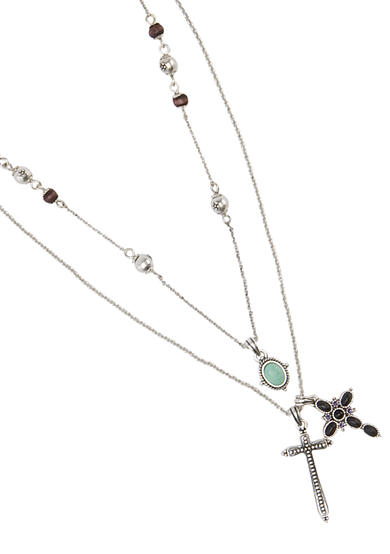 Lucky Brand Cross Charm Necklace