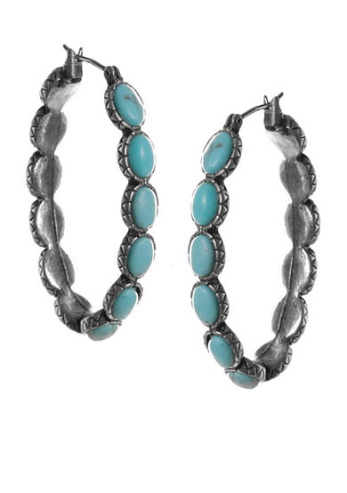 Lucky Brand Jewelry Turquoise Hoop