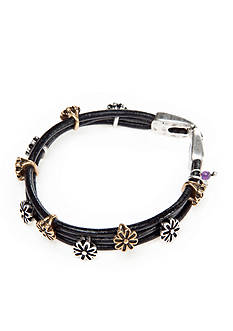 Lucky Brand Jewelry Two-Tone Floral Bracelet