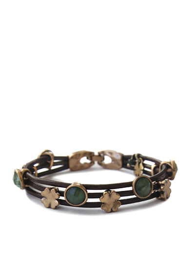 Lucky Brand Green Leather Bracelet