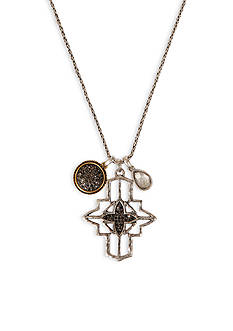 Lucky Brand Jewelry Cross Pendant Necklace