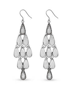 Lucky Brand Jewelry Silver-Tone Crystal and Pave Chandelier Statement Earring