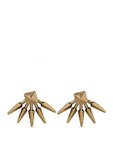 Lucky Brand Jewelry Gold-Tone Spike Front and Back Earrings