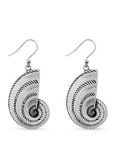 Lucky Brand Jewelry Silver Shell Drop Earrings