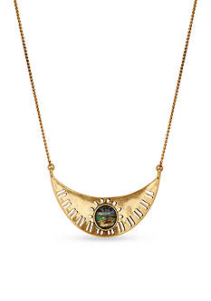 Lucky Brand Jewelry Gold-Tone Abalone Collar Necklace
