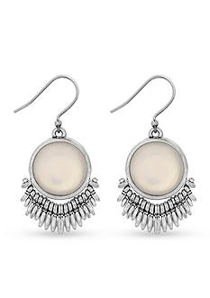 Lucky Brand Jewelry Silver-Tone Moonstone Drop Earrings