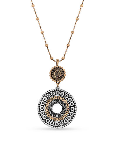 Lucky Brand Two-Tone Tribal Pendant Necklace
