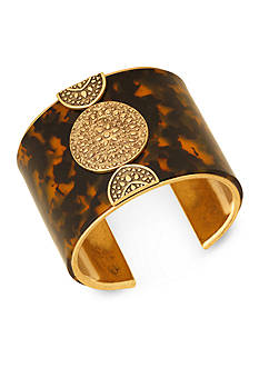 Lucky Brand Jewelry Gold-Tone Tortoise Statement Cuff Bracelet