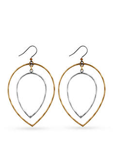 Lucky Brand Jewelry Two-Tone Fine Orbital Earrings