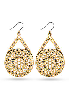 Lucky Brand Jewelry Two Tone Major Drop Earrings