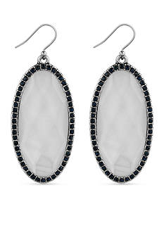 Lucky Brand Jewelry Silver-Tone Large Oblong Mother of Pearl Drop Earrings
