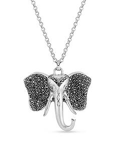 Lucky Brand Jewelry Silver-Tone Elephant Pendant Necklace