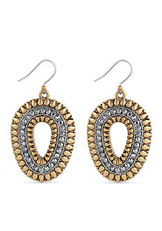 Lucky Brand Jewelry Two-Tone Tribal Drop Earrings