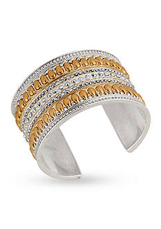 Lucky Brand Jewelry Tribal Pave Glass Stone Cuff