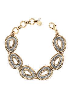 Lucky Brand Jewelry Two-Tone Tribal Teardrop Bracelet