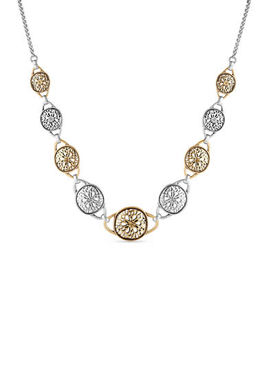 Two-Tone Openwork Collar Necklace