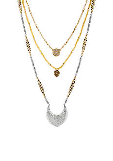 Lucky Brand Jewelry Two-Tone Openwork Pendant Layered Necklace Set