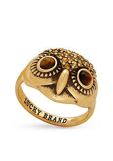Lucky Brand Jewelry Gold-Tone Owl Ring