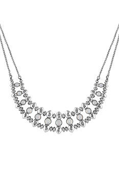 Lucky Brand Jewelry Silver-Tone Moonstone Collar Necklace