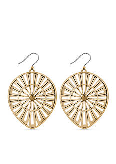 Lucky Brand Jewelry Gold-Tone Openwork Oversized Drop Earrings