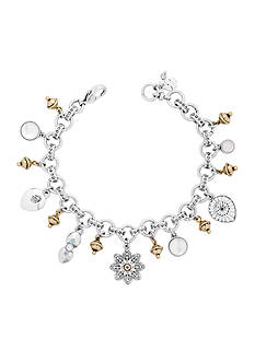 Lucky Brand Jewelry Two-Tone Moonstone Charm Bracelet