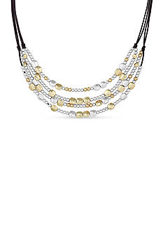 Lucky Brand Two-Tone Beaded Collar Necklace