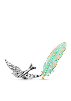 Lucky Brand Two-Tone Birds of a Feather Pin
