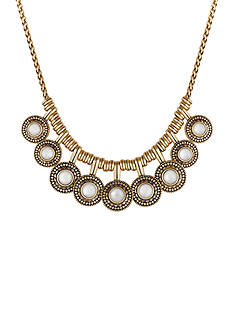 Lucky Brand Gold-Tone Pearl Collar Necklace