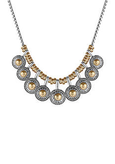 Lucky Brand Two-Tone Rock Crystal Collar Necklace