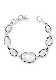 Lucky Brand Silver-Tone Mother of Pearl Link Bracelet
