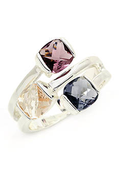 New Directions® Silver-Tone Multi Stone Boxed Ring