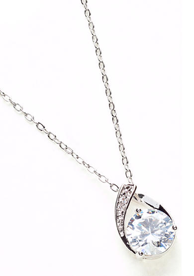 New Directions® Round Stone Pave Pendant Necklace