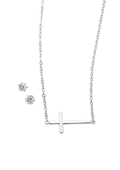 New Directions® Cross Necklace and Earrings Set