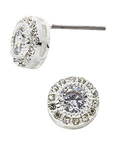 New Directions® Round Crystal Pave Boxed Earrings