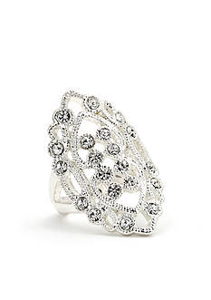 New Directions Crystal Filigree Boxed Ring
