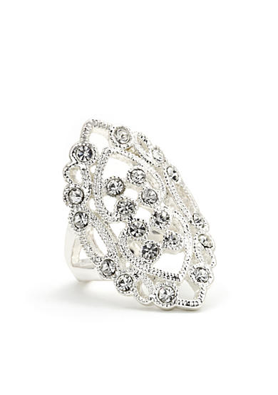 New Directions® Crystal Filigree Boxed Ring