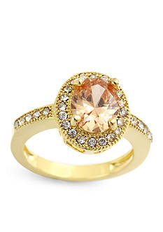 New Directions Oval Champagne Pave Ring