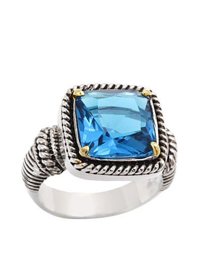 New Directions® Two-Tone Blue Crystal Ring