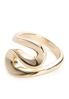 New Directions® Gold-Tone Tailored Swirl Boxed Ring