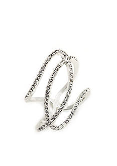 New Directions® Silver-Tone Crystal Twist Boxed Ring