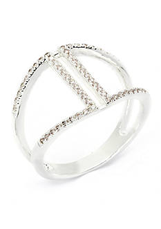 New Directions Silver-Tone Cubic Zirconia Boxed Ring
