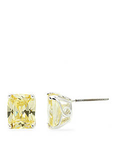 New Directions® Silver-Tone Rectangle Jonquil Cubic Zirconia Boxed Earrings