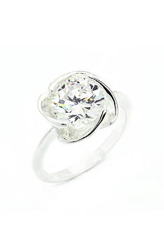 New Directions Silver-Tone Cubic Zirconia Swirl Boxed Ring