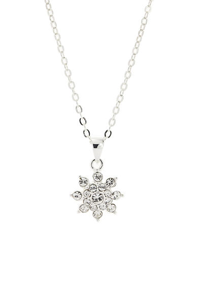 New Directions® Silver-Tone Crystal Flower Pendant Boxed Necklace