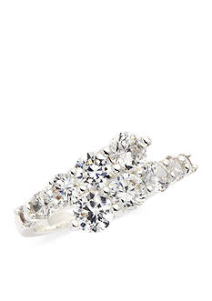 New Directions Silver-Tone Cubic Zirconia Wrap Boxed Ring