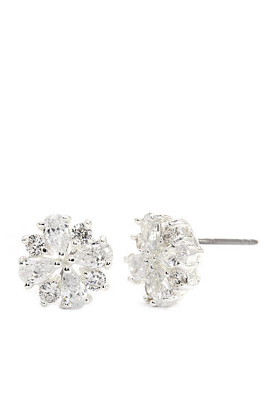 New Directions® Silver-Tone Crystal Flower Stud Boxed Earrings