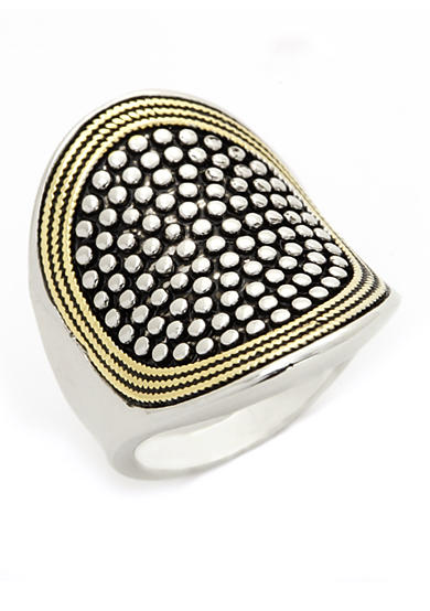 New Directions® Two-Tone Statement Boxed Ring