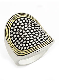 New Directions Two-Tone Statement Boxed Ring